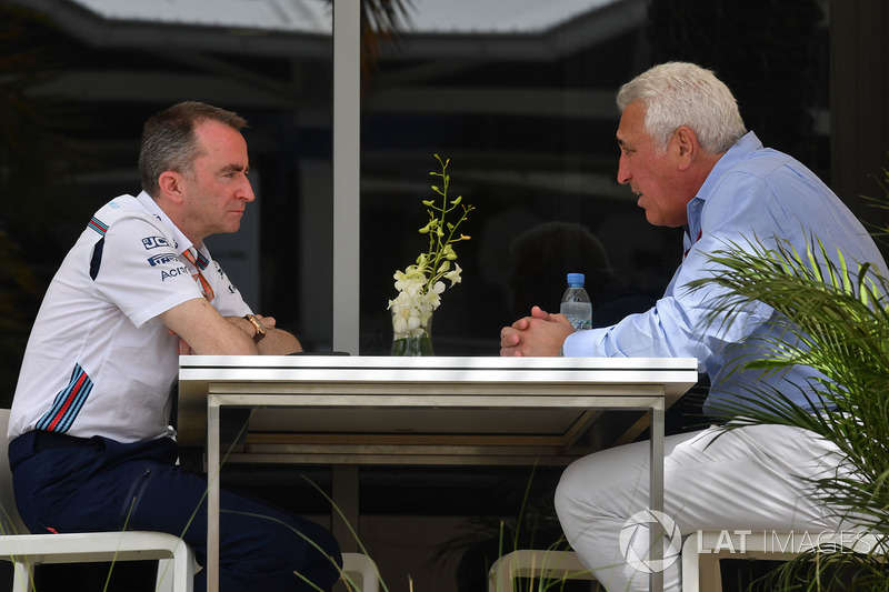 Lawrence Stroll, e Paddy Lowe, Direttore tecnico e azionista Williams