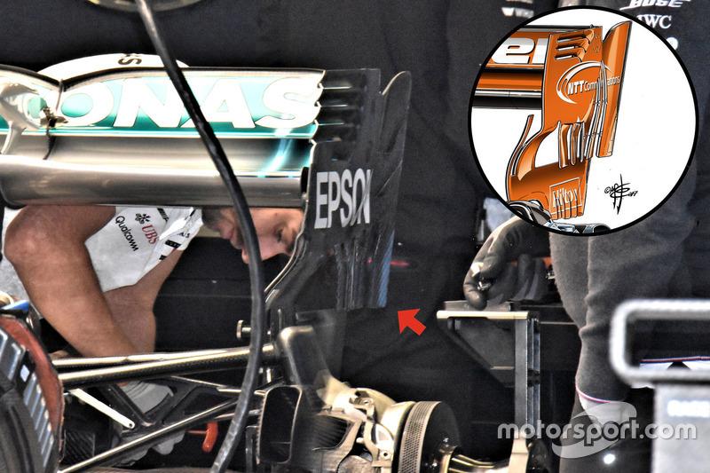 L'aileron arrière de la Mercedes AMG F1 W09