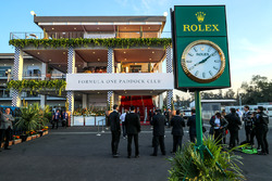 Paddock Club and Rolex Clock