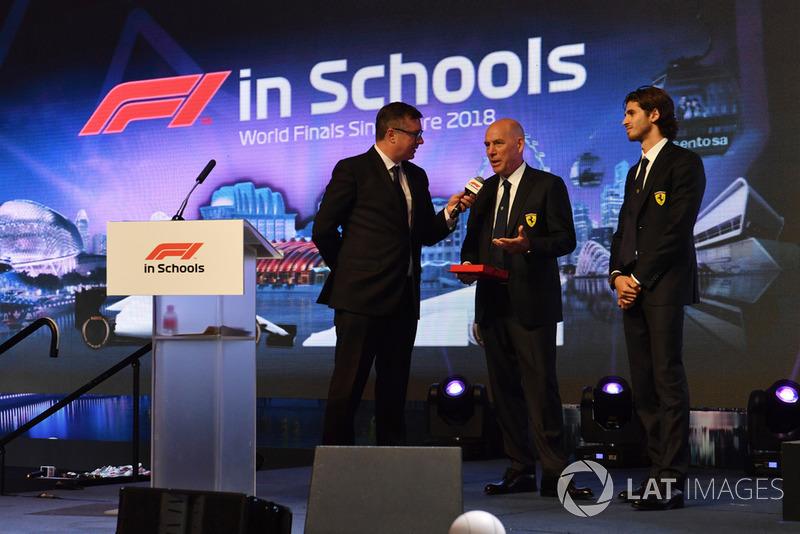 David Croft, Sky TV, Jock Clear, ingeniero jefe de Ferrari y Antonio Giovinazzi, Ferrari