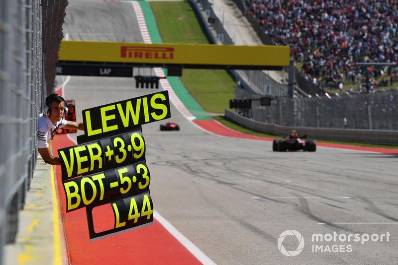 Pit board Lewis Hamilton, Mercedes AMG F1