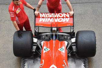 Ferrari SF71H, dettaglio dell'ala posteriore