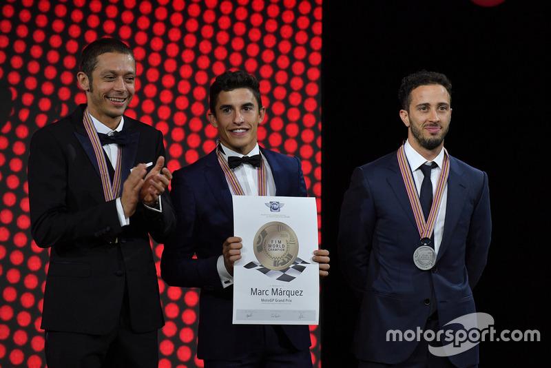Valentino Rossi - Yamaha Factory Racing, Marc Marquez - Repsol Honda, Andrea Dovizioso - Ducati