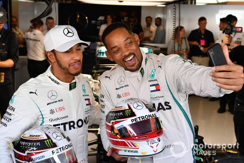 Will Smith y Lewis Hamilton, Mercedes AMG F1