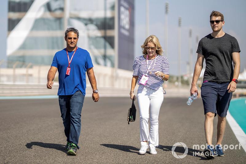 Juan Pablo Montoya, ispeziona il circuito