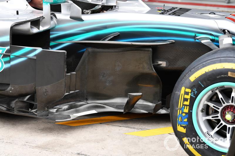 Mercedes-AMG F1 W09 EQ Power+ barge board detail