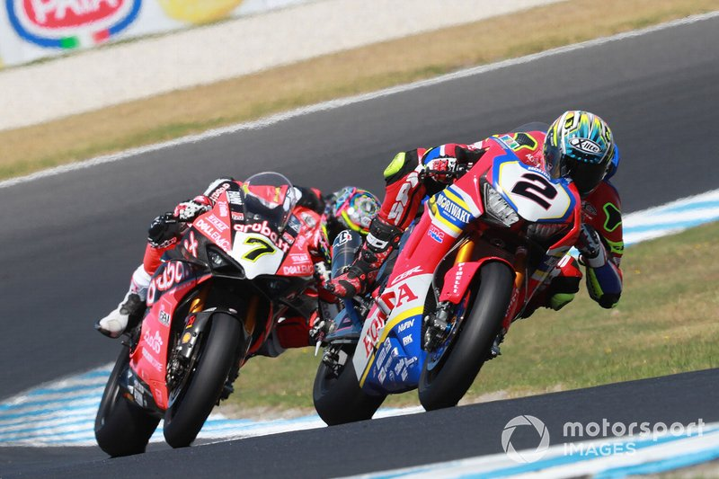 Leon Camier, Honda WSBK Team, Chaz Davies, Aruba.it Racing-Ducati Team