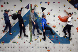 Augusto Farfus, Bruno Spengler Philipp Eng e Marco Wittmann sulla parete per l'arrampicata