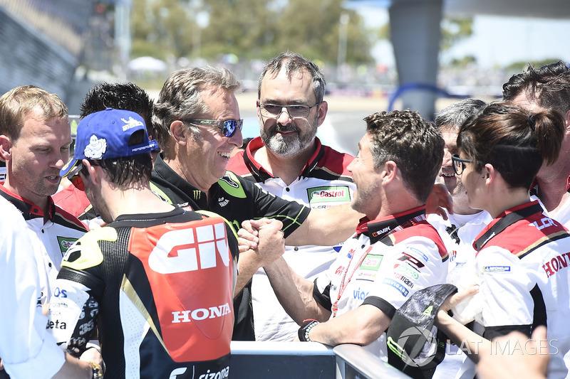 Hervé Poncharal, director del equipo Monster Yamaha Tech 3 , Lucio Cecchinello Team LCR Honda Team Director