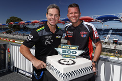 Craig Lowndes, Triple Eight Race Engineering Holden, Garth Tander, Garry Rogers Motorsport celebrate 20 Adelaide 500's participation