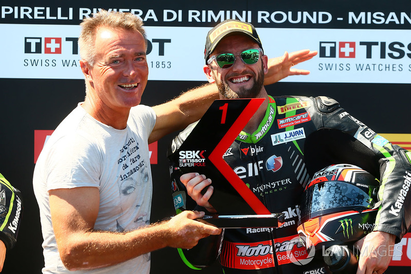 Tom Sykes, Kawasaki Racing en pole, avec Pierfrancesco Chili