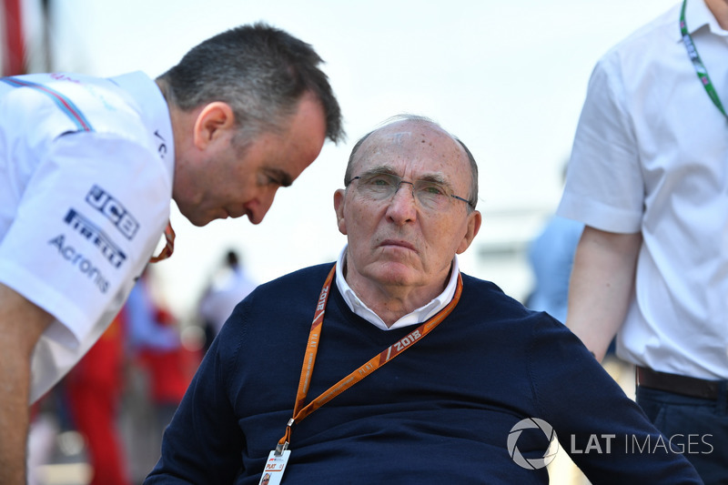 Paddy Lowe, directeur technique et actionnaire de Williams, et Frank Williams, propriétaire de Williams
