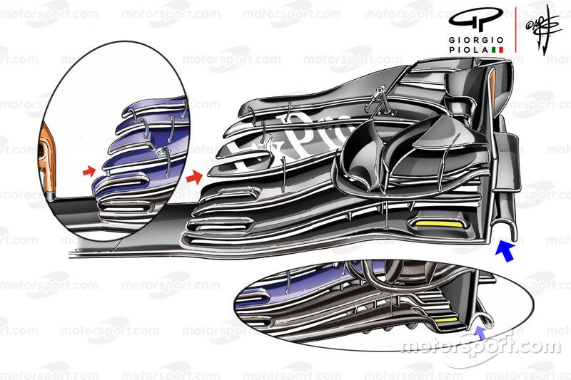 McLaren MCL33, első szárny, Osztrák GP