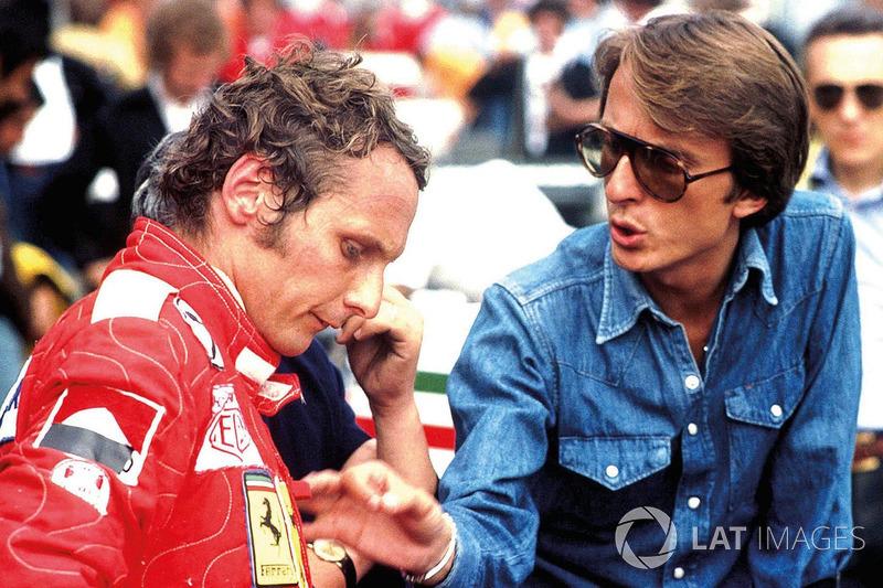 Niki Lauda y Luca Di Montezemolo