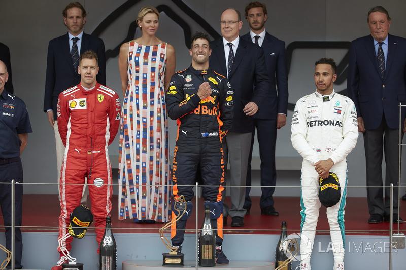 GP de Mónaco: 1º Ricciardo, 2º Vettel, 3º