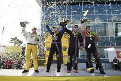 Top Fuel winner Richie Crampton, Funny Car winner Jack Beckman, Pro Stock winner Tanner Gray, Pro Stock Bike winner Eddie Krawiec