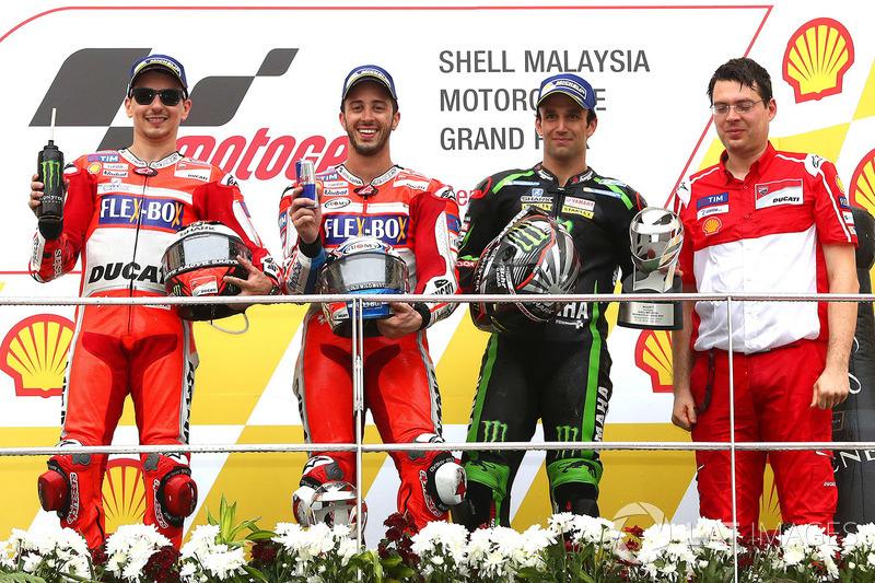 Podium de Malasia 2017