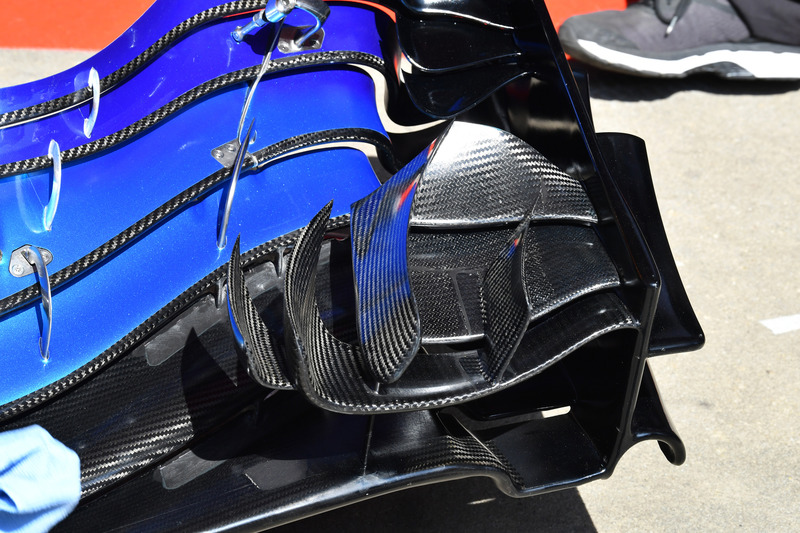 Detalle del ala delantera McLaren MCL33