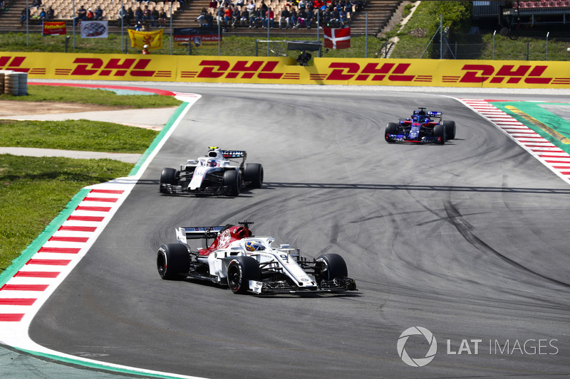 Marcus Ericsson, Sauber C37, Sergey Sirotkin, Williams FW41, Brendon Hartley, Toro Rosso STR13
