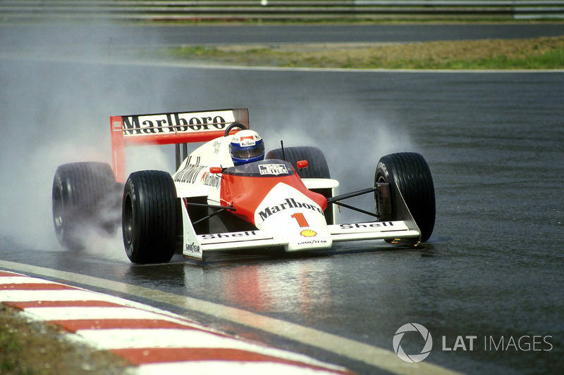 14: Alain Prost: 136 grandes premios (el 69,35% de los disputados)