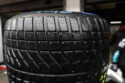 A Pirelli wet tyre