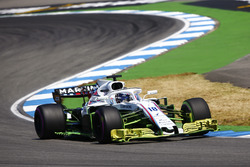 Lance Stroll, Williams FW41, drives with aero paint