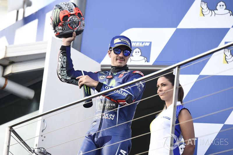 Podium: tercero, Maverick Viñales, Yamaha Factory Racing