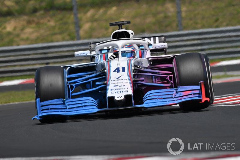 Oliver Rowland, Williams FW41 con parafina