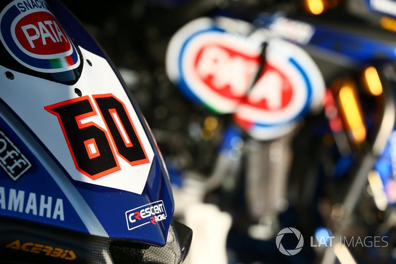 La moto de Michael van der Mark, Pata Yamaha