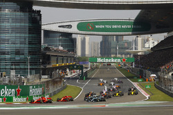 Sebastian Vettel, Ferrari SF71H, Kimi Raikkonen, Ferrari SF71H, Valtteri Bottas, Mercedes AMG F1 W09, Lewis Hamilton, Mercedes AMG F1 W09, Max Verstappen, Red Bull Racing RB14 Tag Heuer