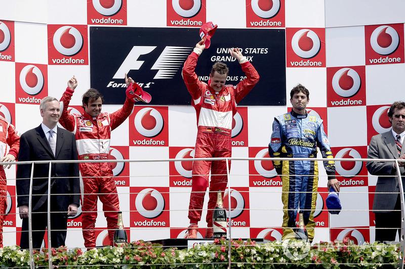 2006 : 1. Michael Schumacher, 2. Felipe Massa, 3. Giancarlo Fisichella