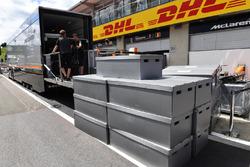 Freight in pit lane