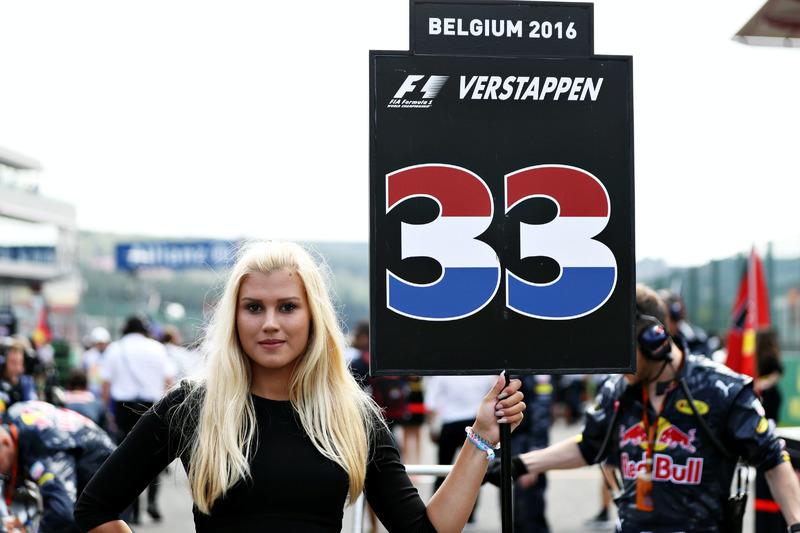 Grid girl of Max Verstappen, Red Bull Racing
