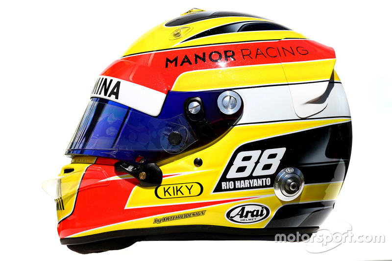 Il casco di Rio Haryanto, Manor Racing