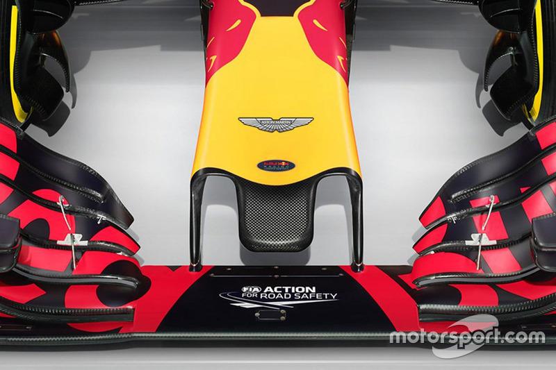 Detail Nase, Red Bull Racing RB12 mit Aston Martin - Logo