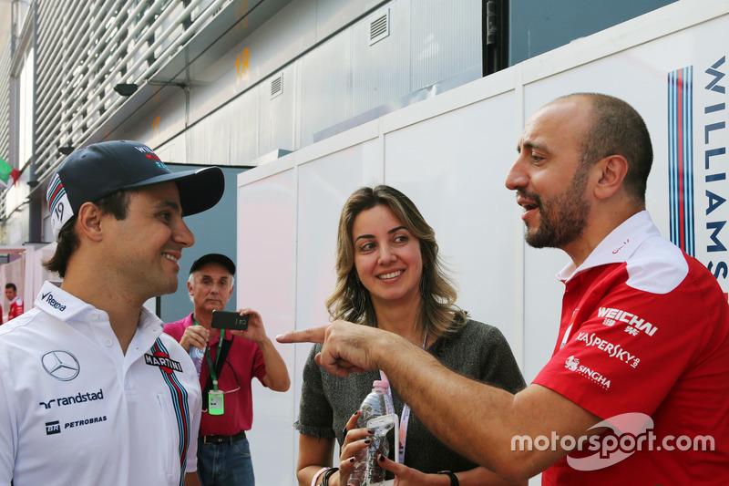 Felipe Massa, Williams ve eşiRafaela Bassi,
