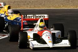 Ayrton Senna, McLaren Honda, Nigel Mansell, Williams Renault
