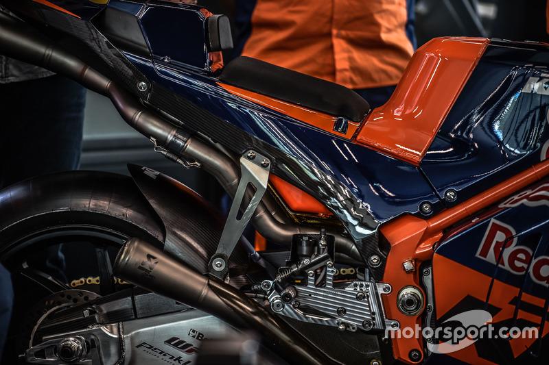 La KTM MotoGP, dettaglio