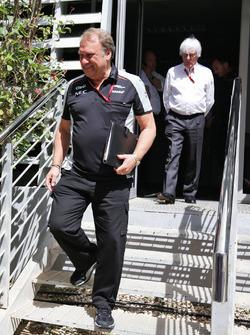 Robert Fernley, Sahara Force India F1 Team Deputy Team Principal and Bernie Ecclestone