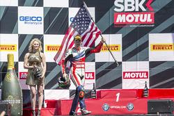 Подіум суботньої гонки: третє місце Нікі Хейден, Honda World Superbike Team