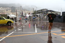 A wet and rainy paddock