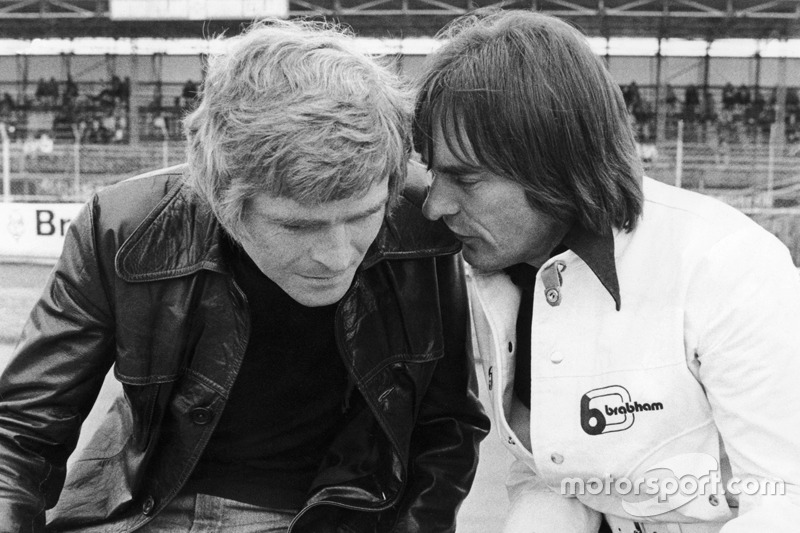 Max Mosley, March Engineering, Teammanager; Bernie Ecclestone, Brabham, Teambesitzer