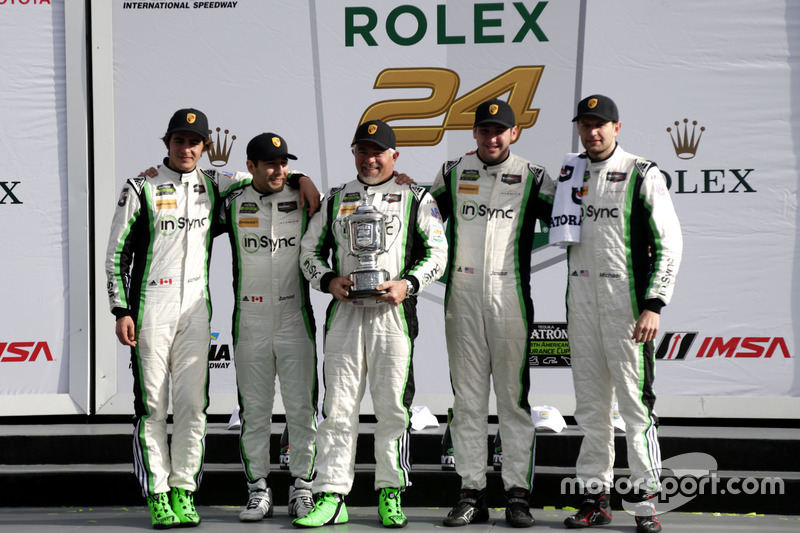 Winnaar GTD: #28 Alegra Motorsports Porsche 911 GT3 R: Daniel Morad, Jesse Lazare, Carlos de Quesada