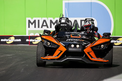 Travis Pastrana driving the Polaris Slingshot SLR