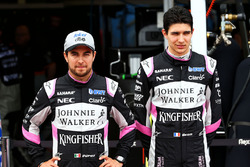 Sergio Perez, Sahara Force India F1 con Esteban Ocon, Sahara Force India F1 Team