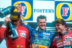 Podium: 1. Michael Schumacher, Benetton; 2. Gerhard Berger, Ferrari; 3. Rubens Barrichello, Jordan