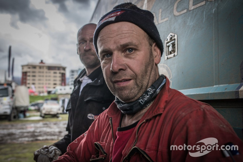 Mechanic working on the truck