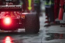 Sebastian Vettel, Ferrari SF70H, in the pit lane