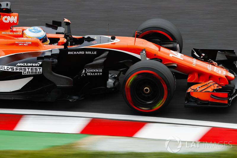 20: Fernando Alonso, McLaren MCL32 (incluidas 35 posiciones de sanción)