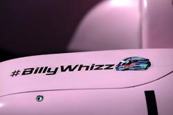 Хэштег #BillyWhizz на автомобиле VJM10 команды Sahara Force India F1